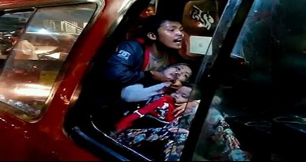 Heboh, Detik-Detik Jambret Sandra Ibu dan Bayi Dalam Angkot Ditembak Polisi